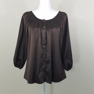 Express Long Sleeve Botton Down Blouse Size XS